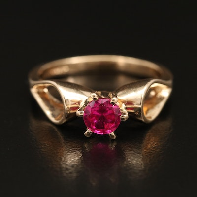 14K Ruby Solitaire