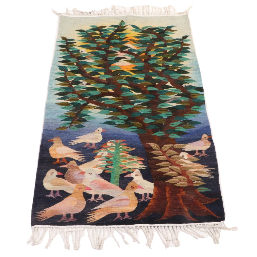 2'11 x 4'8 Handwoven Pictorial Accent Rug