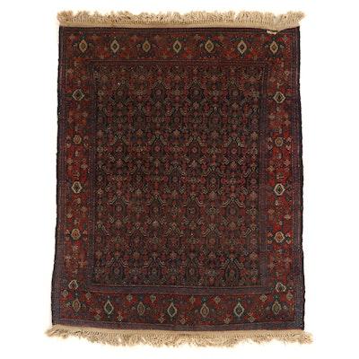 3'8 x 4'10 Hand-Knotted Persian Kurdish Herati Area Rug