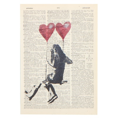 Figural Offset Lithograph After Banksy, 21st Century