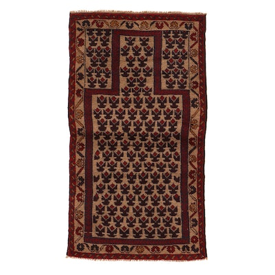 2'8 x 4'10 Hand-Knotted Afghan Baluch Rug, 2000s
