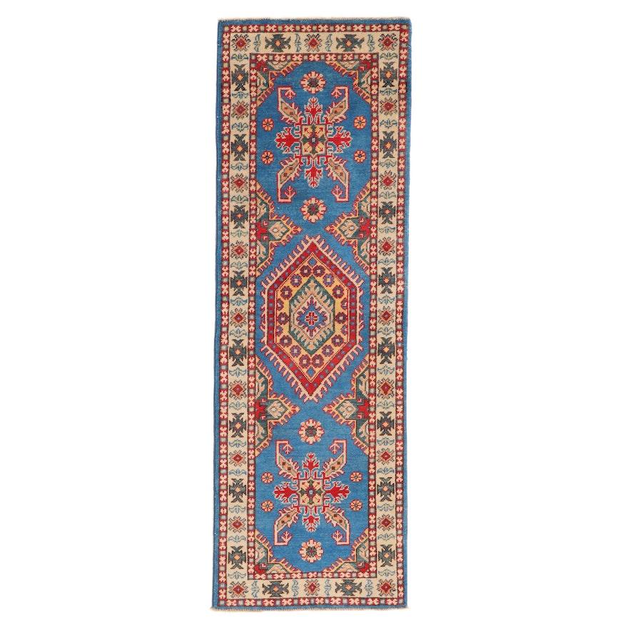 2' x 6'2 Hand-Knotted Afghan Caucasian Kazak Carpet Runner, 2010s