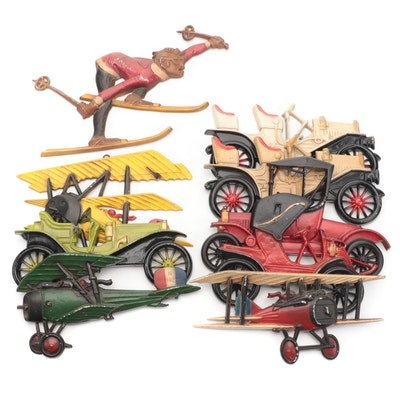 Homco, Sexton and Midwest Cast Aluminum Wall Hanging Cars