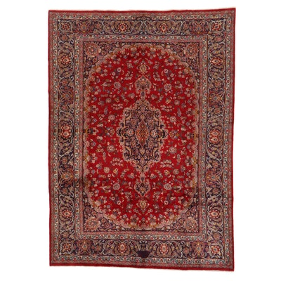 7'11 x 11'1 Hand-Knotted Persian Mashad Signed Rug, 2010s