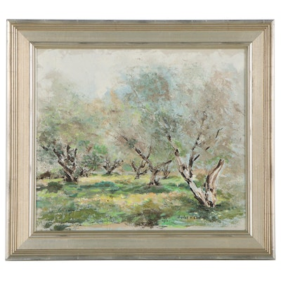 Charles N. Stearns Landscape Oil Painting, Mid to Late 20th Century