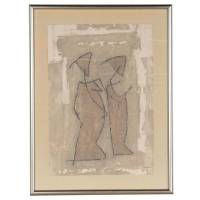 Pierre Marie Brisson Abstract Collograph