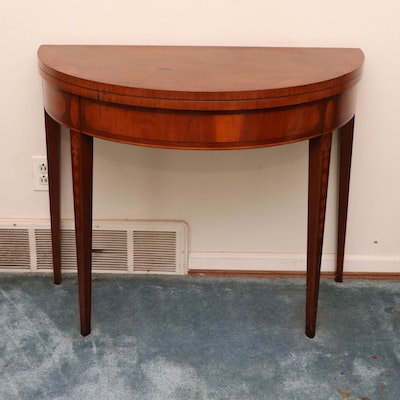 William A. Berkey Federal Style Marquetry Games Table