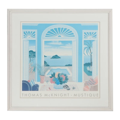 """Offset Lithograph After Thomas McKnight """"Mustique"""""""