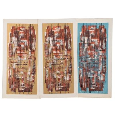 "Richard Sims Serigraphs ""After Rain,"" Mid-20th Century"
