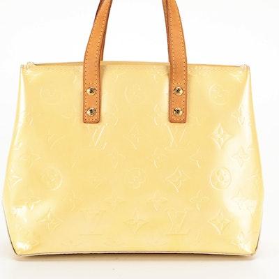 Louis Vuitton Reade PM Tote in Monogram Vernis and Vachetta Leather
