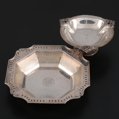 Alvin Sterling Silver Bowl with Royal Danish Sterling Silver Compote