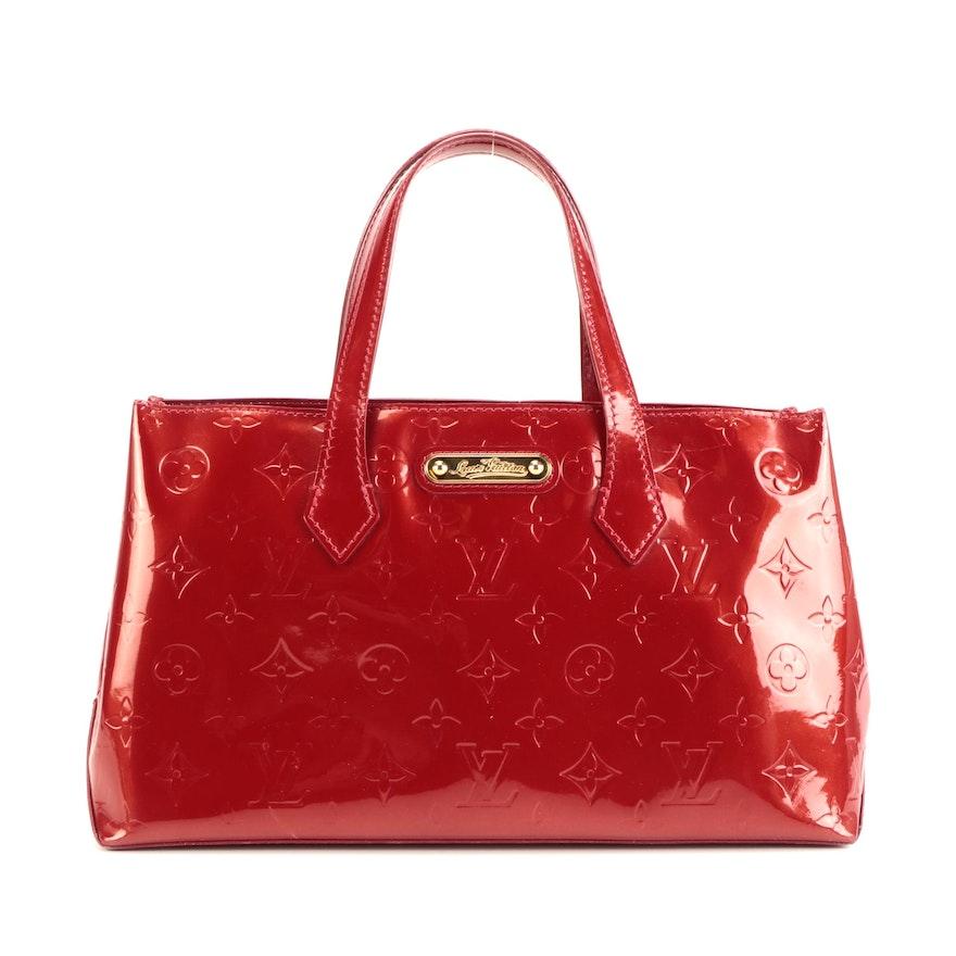 Louis Vuitton Wilshire PM Bag in Red Monogram Vernis