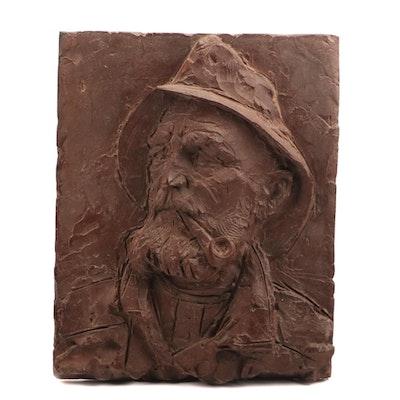 Sea Captain Ceramic Relief Sculpture