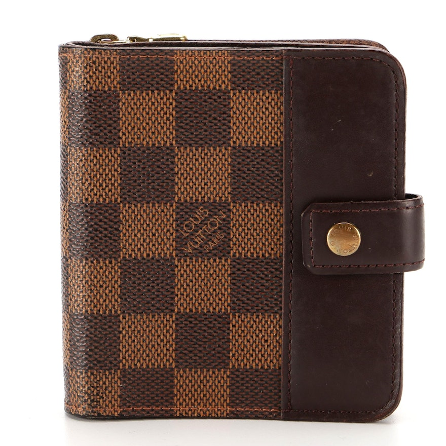 Louis Vuitton Zippe Bifold Compact Wallet in Damier Ebene Canvas and Leather