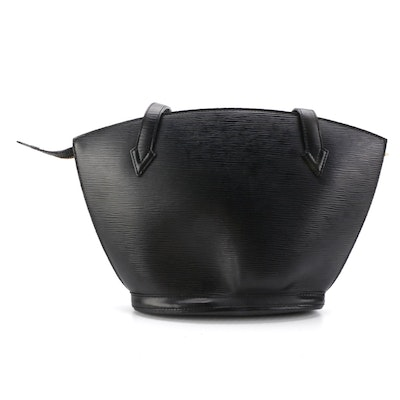 Louis Vuitton Saint Jacques PM in Black Epi and Smooth Leather