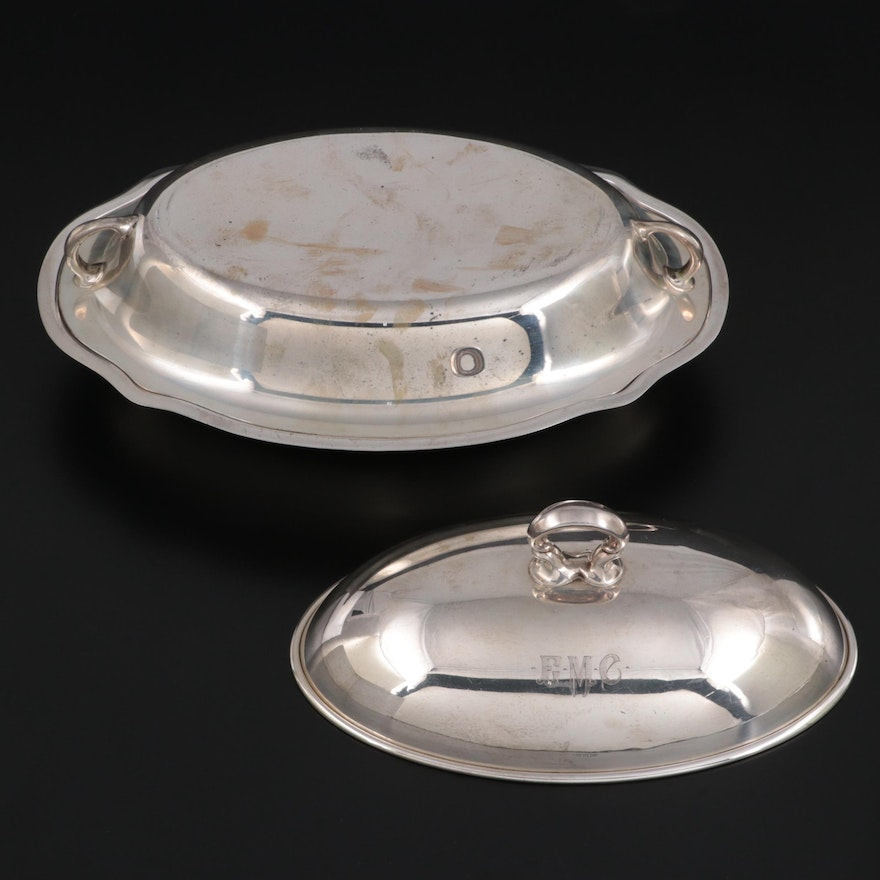 Gorham and Other Sterling Silver Dishes and Lid, 20th Century