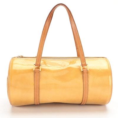 Louis Vuitton Bedford Barrel Bag in Monogram Vernis and Vachetta Leather