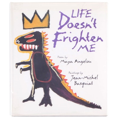 """Second Printing """"Life Doesn't Frighten Me"""" by Maya Angelou, 1993"""