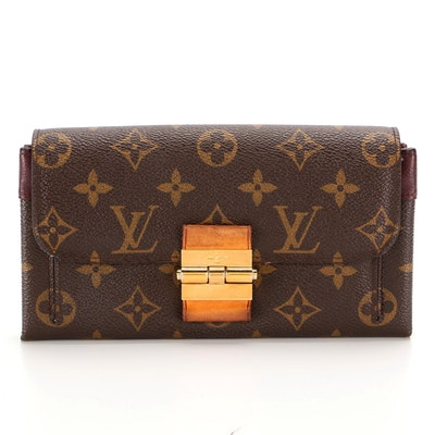 Louis Vuitton Portefeuille Elise Continental Wallet in Monogram Canvas