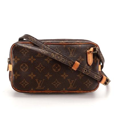 Louis Vuitton Pochette Marly Bandouillère Crossbody Bag in Monogram Canvas