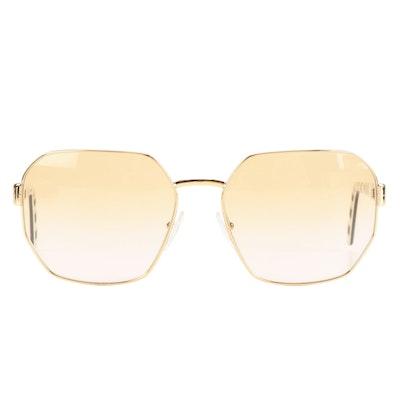Prada PR54XS Rectangular Aviator Style Sunglasses with Case