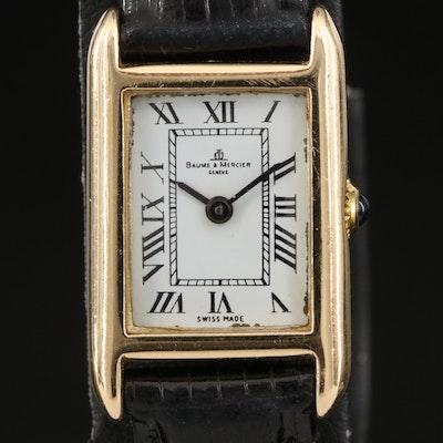 Vintage Baume & Mercier 14K Yellow Gold Stem Wind Wristwatch
