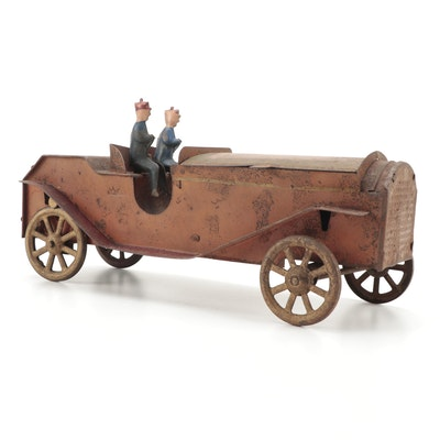 Tin Lithograph Toy Roadster Style Vehicle, Early 20th Century