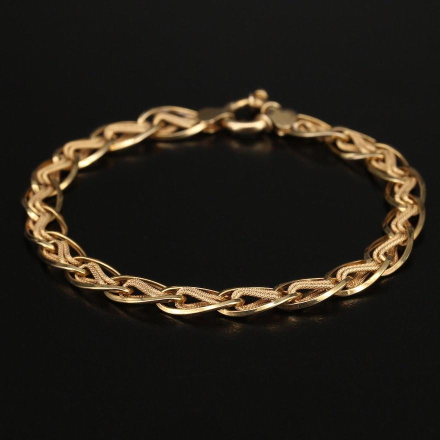Italian 14K Infinity Chain Bracelet