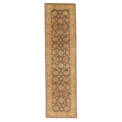 2'8 x 9'10 Hand-Knotted Pakistani Persian Tabriz Carpet Runner, 2010s