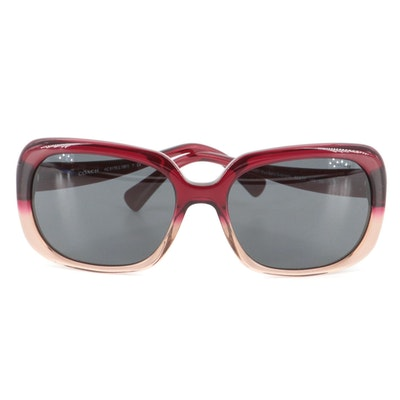 Coach Red Sand Gradient Sunglasses with Case