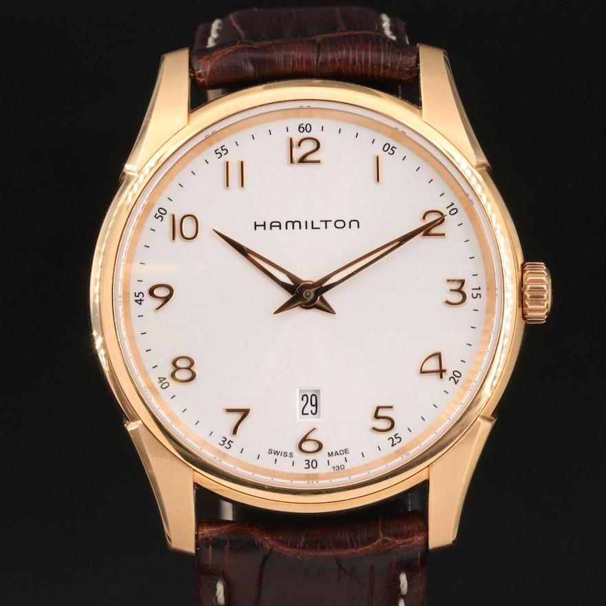 Hamilton Jazzmaster Rose Gold Tone Wristwatch