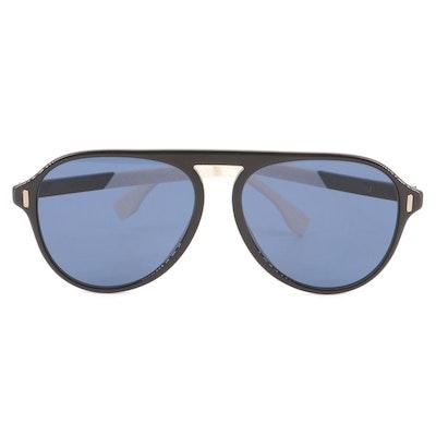 Fendi Bicolor Aviator Sunglasses with Case
