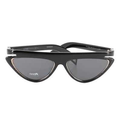 Fendi FF0383 Cat Eye Sunglasses with Case