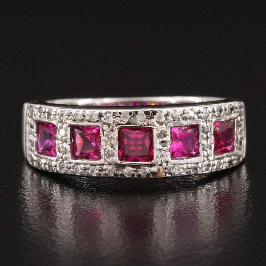 14K Ruby and Cubic Zirconia Band