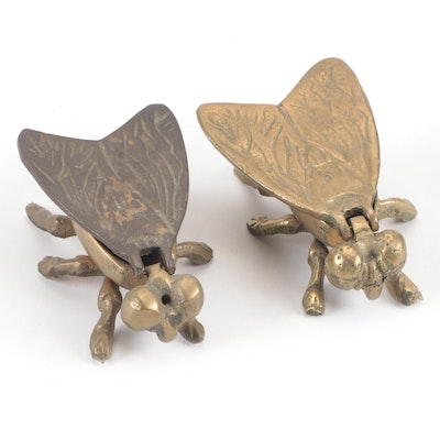 Brass Fly Themed Decorative Boxes