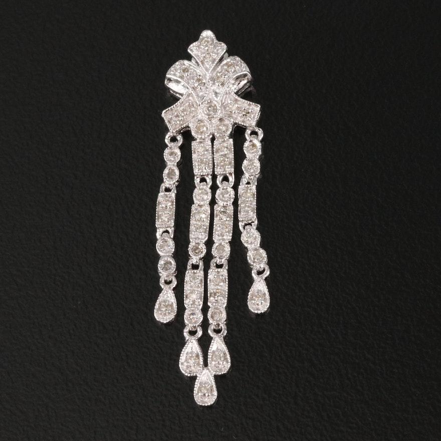 14K Diamond Fringe Pendant