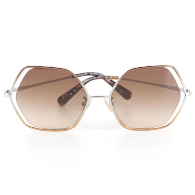 Coach Honeycomb Gradient Sunglasses with Case