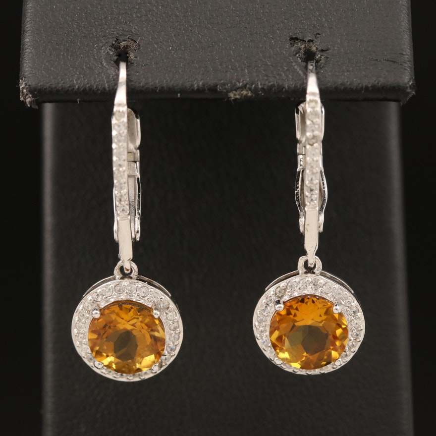 Sterling Scapolite and Zircon Earrings