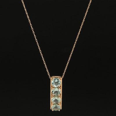 14K Apatite Pendant Necklace