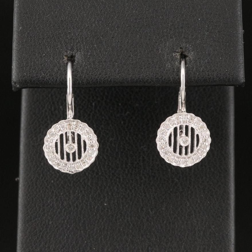 14K Diamond Openwork Earrings