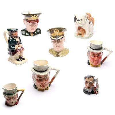 Barrington and Tony Wood Ceramic Character and Toby Jugs