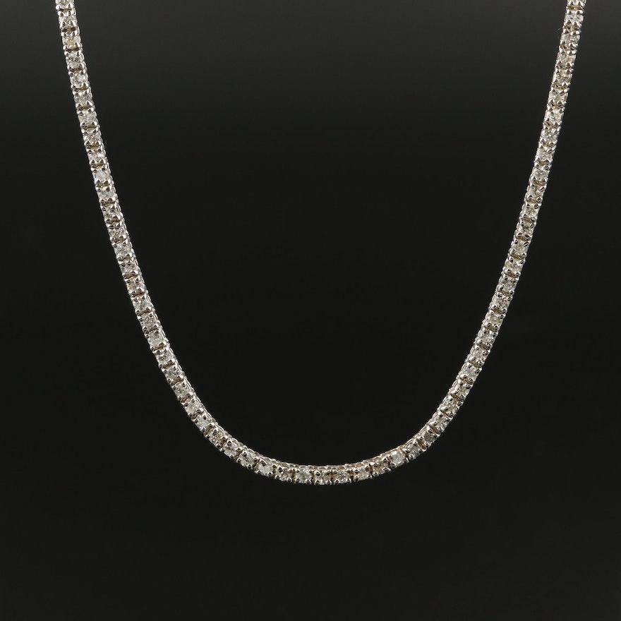 14K 7.25 CTW Diamond Line Necklace