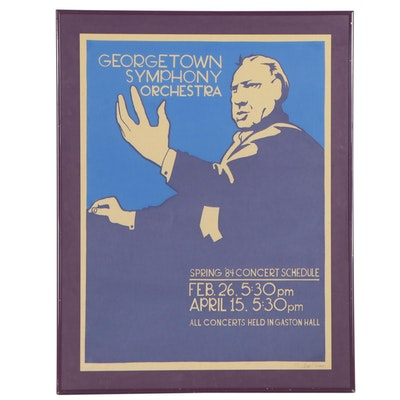 Georgetown Symphony Orchestra Promotional Serigraph Poster