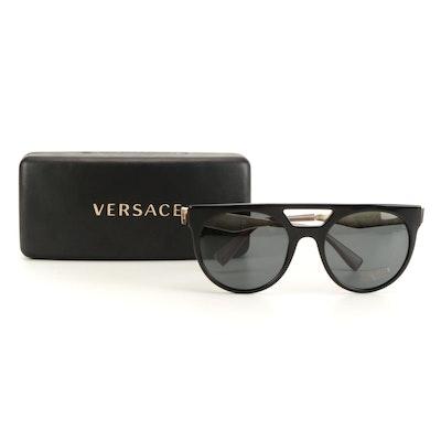 Versace Medusa Black/Gold Tone Sunglasses with Case