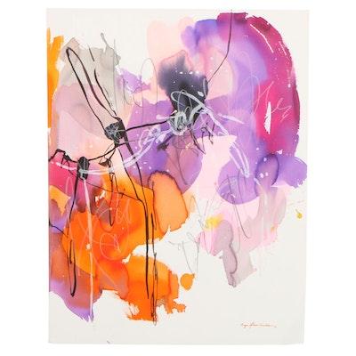 Inga Kovalenko Abstract Watercolor Painting, 2021