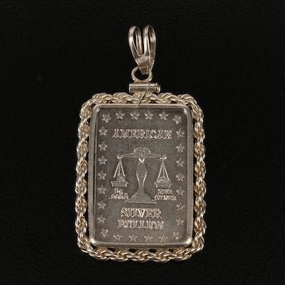 Sterling Silver Pendant with 5 Gram Fine Silver Bullion