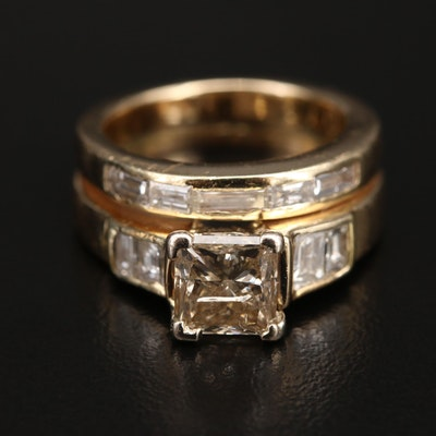 14K 2.92 CTW Diamond Ring