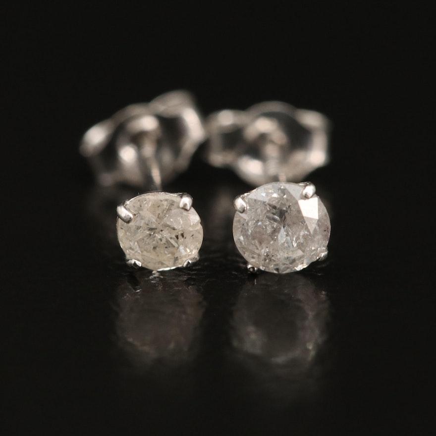 10K 0.25 CTW Diamond Stud Earrings
