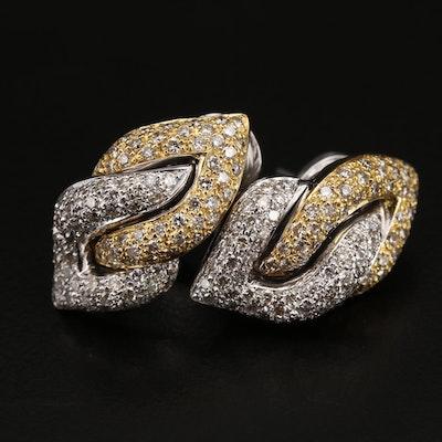 18K 2.00 CTW Pavé Diamond Earrings