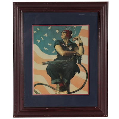 Offset Lithograph of Rosie the Riveter, Late 20th Century